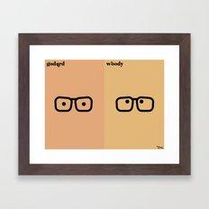 le réalisateur Framed Art Print