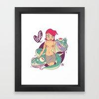 Babes&Monsters  Framed Art Print