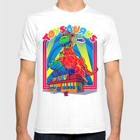 TOYSAURUS Mens Fitted Tee White SMALL