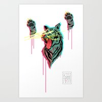 Tiger With F**king Lazer… Art Print