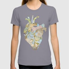 A Traveler's Heart (N.T) Womens Fitted Tee Slate SMALL
