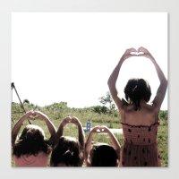 4 hearts Canvas Print