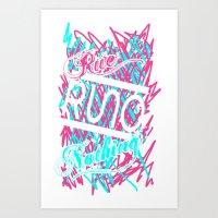 Rue Nothing Sketch Print Art Print