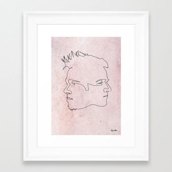 One line Fight Club Framed Art Print