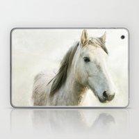 White Horse Portrait Laptop & iPad Skin