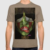 Alien  Mens Fitted Tee Tri-Coffee SMALL