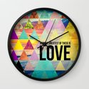 "1 Corinthians 13:13 ""And the greatest of these is Love"" Wall Clock"