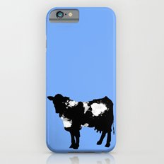 Cow Black and White brush paint splash iPhone 6 Slim Case