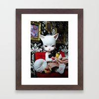 WEEKEND AT HOME (Cat Doll) Framed Art Print