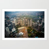 View from the Petronas twin towers Art Print