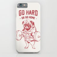 iPhone Cases featuring GO HARD OR GO HOME by Huebucket