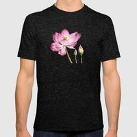 Lotus Bloom Mens Fitted Tee Tri-Black SMALL