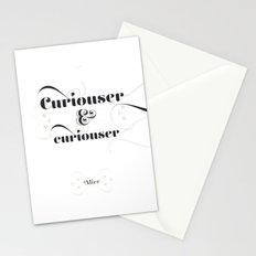 Curiouser & curiouser Stationery Cards