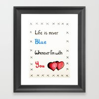 Valentine's: Never Blue Framed Art Print
