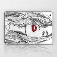 Girl with the Red Lips Laptop & iPad Skin