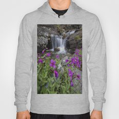Pink Flowers Mountain Waterfall Hoody