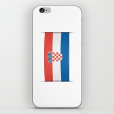 Flag of Croatia.  The slit in the paper with shadows.  iPhone & iPod Skin