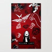 KILLER LADY LOGO TWO  Canvas Print