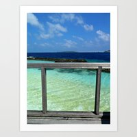 Maldivian balcony Art Print