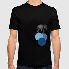 elephant balance Black SMALL Mens Fitted Tee