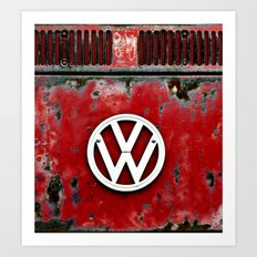 VW Retro Red Art Print