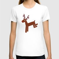 Reindeer-Green Womens Fitted Tee White SMALL