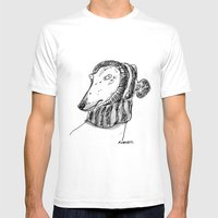 winter greyhound Mens Fitted Tee White SMALL