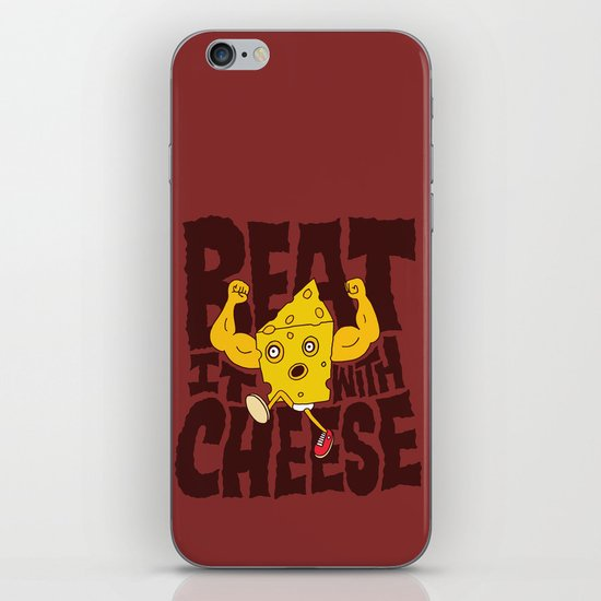 Beat it with Cheese iPhone & iPod Skin