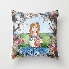 Just Ask Alice ..... Throw Pillow
