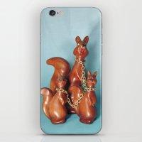 Wooden Squirrel Bondage Family iPhone & iPod Skin