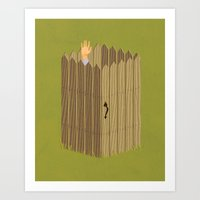 The Neighbor Gap Art Print