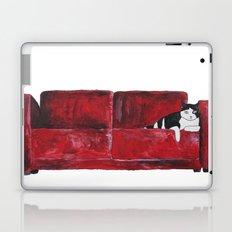 cat in a red sofa  Laptop & iPad Skin