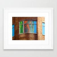 Rainbow Window Framed Art Print