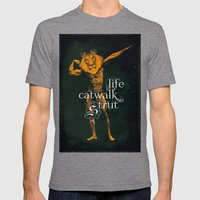 Life is a Catwalk so Strut Mens Fitted Tee Tri-Grey SMALL