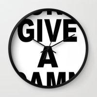 Don't Give A Damn Wall Clock