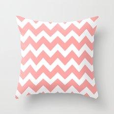 Chevron Coral Pink Throw Pillow