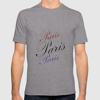 Paris  Mens Fitted Tee Athletic Grey SMALL
