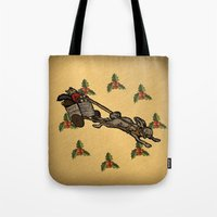 Christmas on the Nut Express Tote Bag