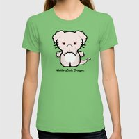 Falcor; Hello Luck Drago… Womens Fitted Tee Grass SMALL