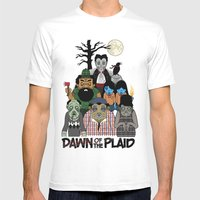 Dawn of the Plaid Mens Fitted Tee White SMALL