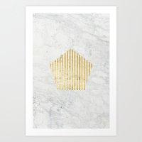 penta gOld Art Print