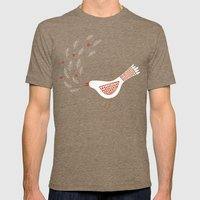 La la la Mens Fitted Tee Tri-Coffee SMALL