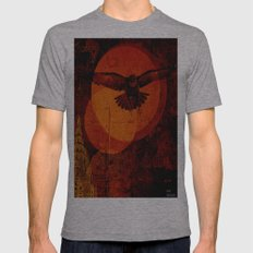 A Crow In New York Mens Fitted Tee Athletic Grey SMALL