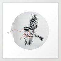 COURIER COAL TIT Art Print