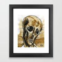 Dead Head Framed Art Print