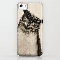 iPhone 5c Cases featuring Owl Sketch by Isaiah K. Stephens