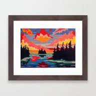 Framed Art Print featuring Northern Sunset Surreal  by Morgan Ralston
