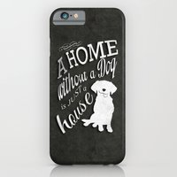iPhone & iPod Case featuring Home with Dog by Roboz
