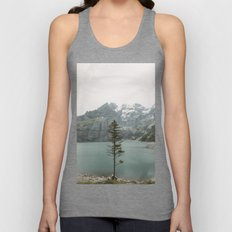 Lone Switzerland Tree - Landscape Photography Unisex Tank Top
