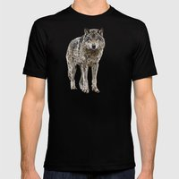 WOLF: THE SILVER HUNTER Mens Fitted Tee Black SMALL